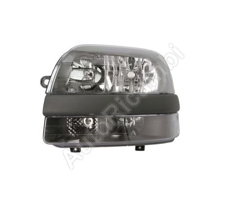 Headlight Fiat Doblo 2000-2005 left H7+H1+H1 with fog light, without motor