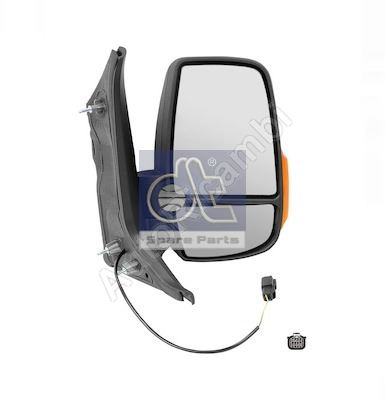 Rearview mirror Ford Transit from 2013 right short, manual, 2-PIN, 16W