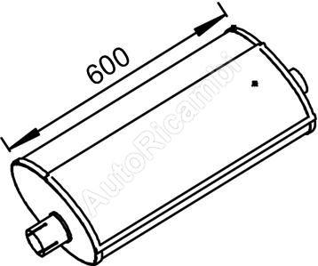 Exhaust silencer Iveco EuroCargo 75E14 oval
