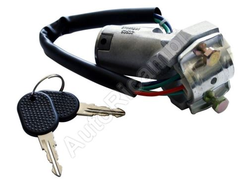 Ignition switch Iveco TurboDaily 1990-2000 with ignition barrel and keys, 4-PIN