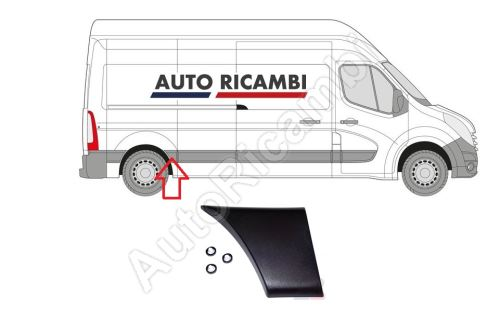 Side molding Renault Master 10> right, in front of the rear wheel