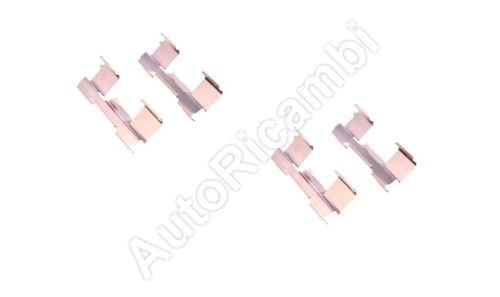 Repair kit Iveco Daily 2006-2014 65C/70C rear, brake pads pressure plates, 4pc