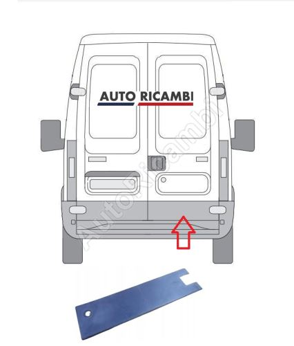 Protective trim Iveco Daily 2000-2006 rear, right door