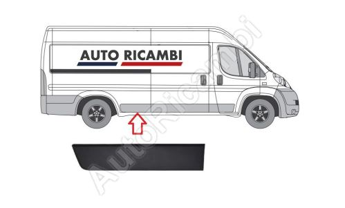 Protective trim Fiat Ducato from 2006 right, in front of the rear wheel, 80cm