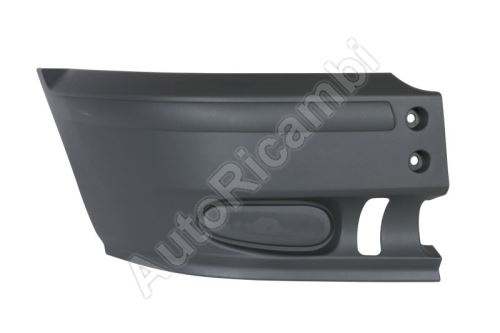 Bumper Ford Transit 2000-2006 front, right, black, without fog lights