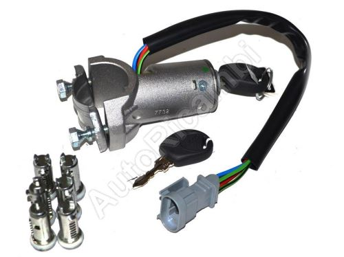 Ignition switch Iveco Daily 2000-2006 with immo., with ignition barrels set, 4-PIN