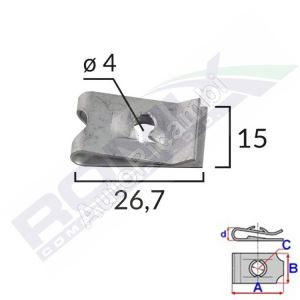 Mounting clip 4,0mm / 10  pcs in a package