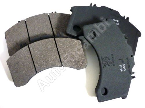 Brake pads Iveco EuroCargo 120E up to year 2001 front