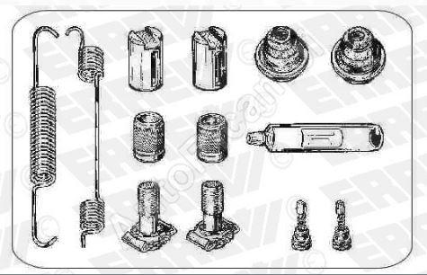 Repair kit of brake Iveco EuroCargo 120E Meritor 360x170mm