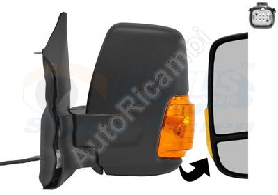 Rearview mirror Ford Transit from 2013 left short, manual, 2-PIN, 16W
