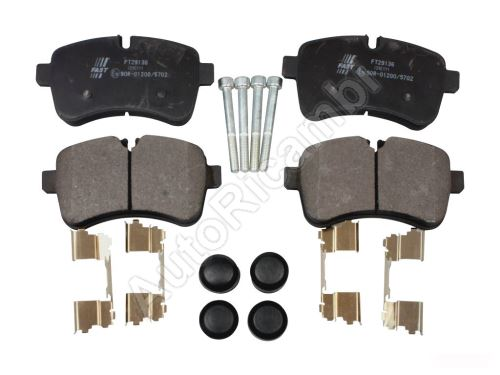 Brake pads Iveco Daily 2006> 35C rear, with pressure plates