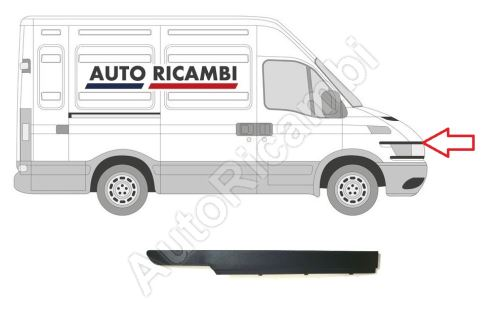 Protective trim Iveco Daily 2000-2006 right, plastic top for fender