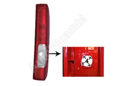Tail light Renault Trafic 2006-2014 right without bulb holder, 4 grooves