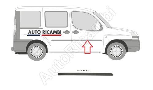 Protective trim Fiat Doblo 2000-2005 right, front door, black