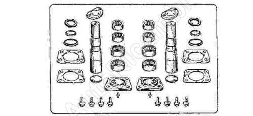 King pin repair kit Iveco Stralis, EuroCargo 180, axle kit