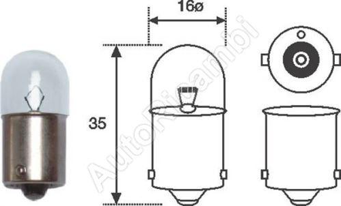 Bulb 12V 10W R10W
