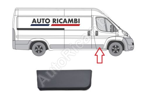 Protective trim Fiat Ducato from 2006 right, front door