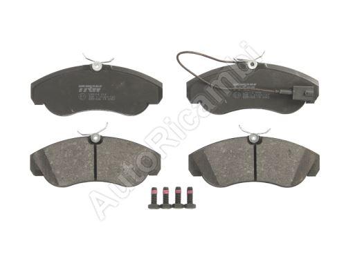 Brake pads Fiat Ducato 1994-2006 front, 1-sensor Q18, system TRW