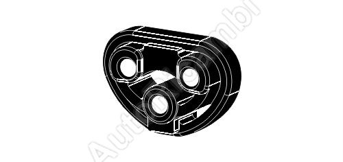 Exhaust rubber mount Fiat Ducato 244