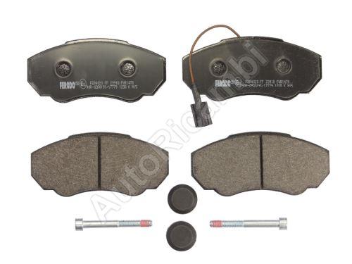 Brake pads Fiat Ducato 1995-2006 front, 1-sensor, Q11/15