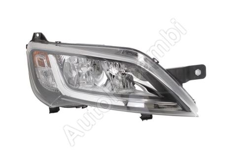 Headlight Fiat Ducato from 2014 right H7+H7 black frame without LED