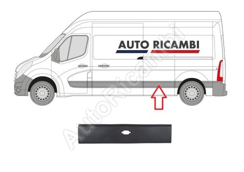 Protective trim Renault Master from 2010 left, behind the sliding door, for position light