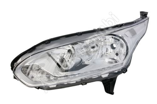 Headlight Ford Transit, Tourneo Connect from 2014 front, left with daylight, chrome