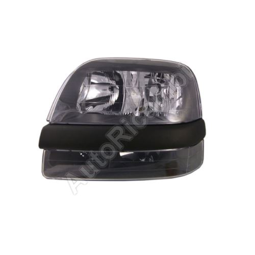 Headlight Fiat Doblo 2000-2005 left front H7+H1, without fog light, without motor