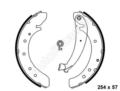 Brake shoes Fiat Ducato 230 Q10/14