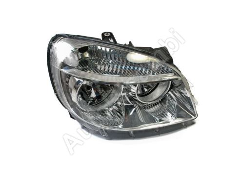 Headlight Fiat Doblo 2005-2010 right front H7+H1, without motor