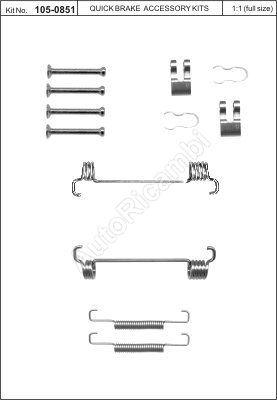 Handbrake repair kit Fiat Ducato 244