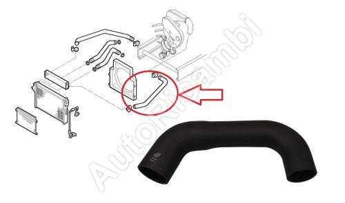 Charger Intake Hose Iveco Daily 2000-2006 2,8 from intercooler to intake manifold