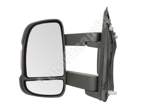 Rear View mirror Fiat Ducato 2006-2011 left long 250 mm, manual without sensor 5W, 2-PIN