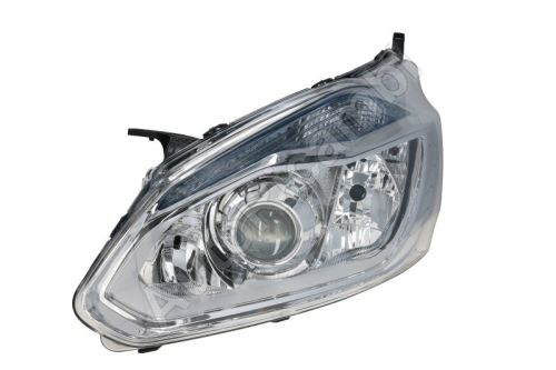 Headlight Ford Transit, Tourneo Custom 2012-2016 front, left with daylight, chrome