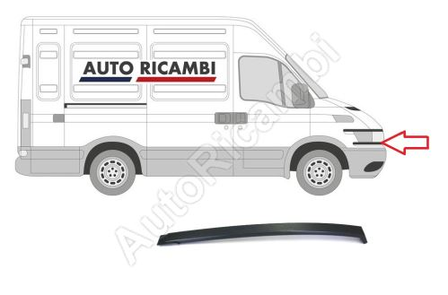 Front forehead strip Iveco Daily 2000 plastic bottom right