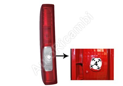 Tail light Renault Trafic 2006-2014 left without bulb holder, 4 grooves