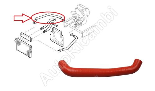 Charger Intake Hose Iveco Daily 2000-2006 2,8 C15 from turbocharger to intercooler