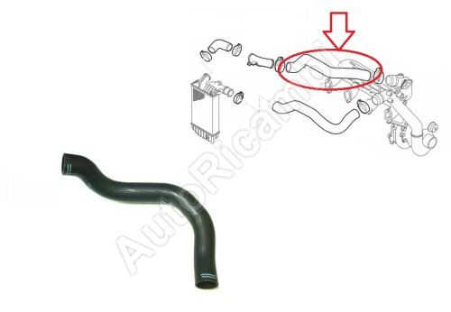 Charger Intake Hose Fiat Ducato 1994-2006 2,8 JTD from intercooler to throttle